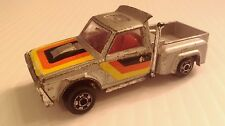 1970's Zylmex ZeeToys Fun Trucking Courier Pickup #P353 - Silver - Loose 1/64