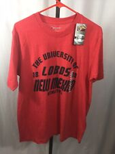 Men's Champion New Mexico Lobos Red T Shirt Size Large Nwt
