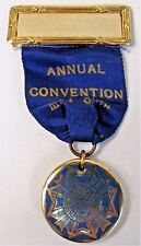 1920's VETERANS OF FOREIGN WARS ANNUAL CONVENTION medal ribbon badge VFW +