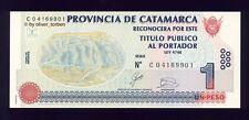 ARGENTINIEN Argentina 1 Peso 2003 Provinz CATAMARCA bankfrisch UNC sehr selten!