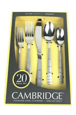 CAMBRIDGE SILVER Sequence Sand Stainless Flatware 20 Piece Set NEW Service For 4