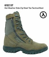 BELLEVILLE 612Z ST HOT WEATHER SIDE-ZIP TACTICAL STEEL TOE BOOTS * ALL SIZES ***