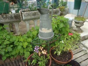 Ancien Arrosoir Broc en Zinc Galvanisé /Déco Jardin vintage non percé