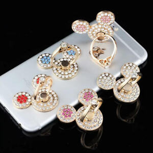 Universal 360 Rotating Finger Ring Stand Holder For Cell Phone - CRYSTAL MOUSE