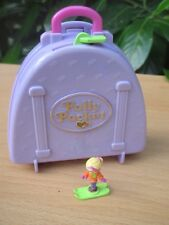 POLLY POCKET mini Ski Hotel Koffer + FIGUR BLUEBIRD 1996 Snow Mountain Dose