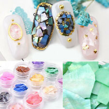 12 Colors Irregular Shell Abalone Slice Tip Flake Nail Art Manicure Decoration