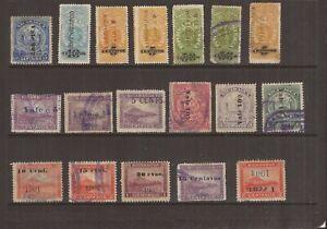 NICARAGUA 1901-09  18 STAMPS