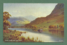 C1940'S E H THOMPSON POSTCARD RYDAL WATER AND NAB SCAR, CUMBRIA, VALENTINE'S