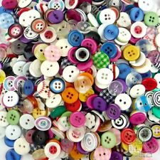 100pcs Mixed Round Resin Buttons Lots 11MM Craft Sewing Scrapbook DIY Cards