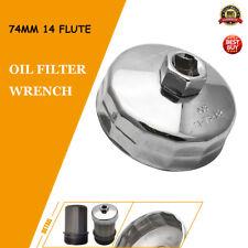 Universal llave de filtro de aceite 74 Mm x 14 flautas  Filtros para BMW AUDI Be