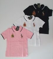 NWT Ralph Lauren Boys SS Featherweight Big Pony Mesh Polo Shirt Sz 5 6 7 NEW