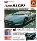 1993 JAGUAR XJ220 IMP Brochure, xj-220