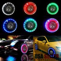 Multi Colour Solar Energy LED Neon Car Bike Wheel Tire Tyre Valve Cap Lights