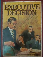Executive Decision Business Management Board Game 3M 1971 Complete