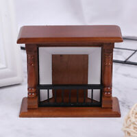 1:12 Dollhouse Miniature Furniture Wooden Fireplace Model Doll House Decor To YK
