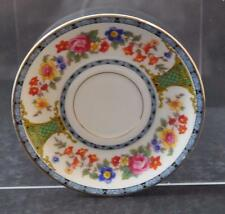 "Vintage Royal Bayreuth China Saucer Bavaria Two Lions Mark 5 3/4"" W18"