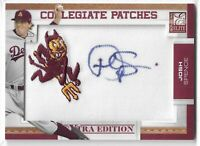 2010 DONRUSS-ELITE JOSH SPENCE COLLEGIATE PATCHES AUTO #JS SUN DEVILS 047/125