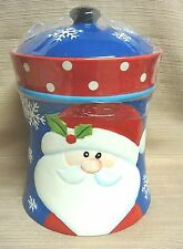 NEW & COLORFUL Ceramic SANTA CLAUS COOKIE JAR from Hobby Lobby
