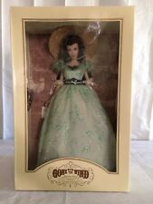 Franklin Mint Scarlett O'Hara Vinyl Portrait Doll Green Gown Gone With The Wind