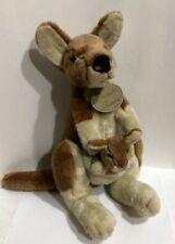 """Russ Yomiko Classics Mommy & Baby Kangaroo 14"""" Plush Stuffed Animal 14�"""