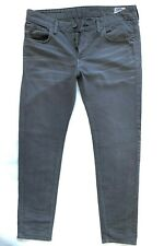 Mens G-STAR 3301 LOW TAPERED Grey Faded Jeans Size W 36 L 34 Great Cond