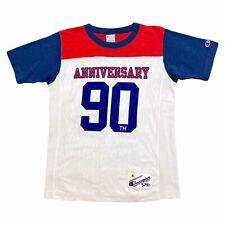 Champion 90th Anniversary Tshirt   Retro Sportswear weiß rot blau Medium