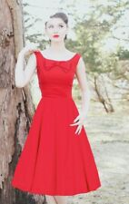 Stop Staring Bombshell Holiday Vintage Inspired Sexy Little Red Swing Dress S-XL