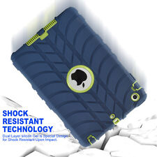 """For iPad 2 3 4 /Mini /Air /Pro 9.7"""" US Shockproof Rubber KID Military Case Cover"""