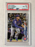 NICO HOERNER 2020 Topps Series 1 BLUE JERSEY SP RC #70! PSA NM-MT 8! CUBS! QTY!!