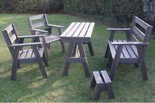 Garden furniture set - Recycled plastic - maintenance free - 5 year guarantee