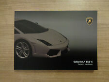 Lamborghini Gallardo LP 560-4 Owners Handbook/Manual