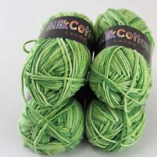 6 Colores 100/% Algodón 50g Hielo hilados de algodón natural Multi Color wool//yarn