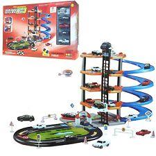 5 nivel de autos modernos parking garaje de conjunto Kids Play Set Gasolinera Lavado de coche de juguete