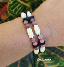 Native American Bracelet w/ Rhodonite Cherokee made William Lattie Cert of Auth