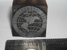 AAA INTERNATIONAL DRIVING SCHOOL Logo Letterpress Printers Block Metal Stamp