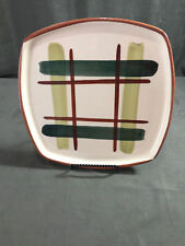 Two Vintage Hand Decorated BLAIR Gay Plaid Dinner Plates