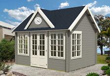 Gartenhaus Clockhouse-44 Holz 420x320 cm 40 mm Satteldach Blockhaus Gerätehaus
