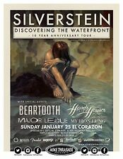 "SILVERSTEIN ""DISCOVERING THE WATERFRONT TOUR"" 2015 SEATTLE CONCERT POSTER"