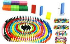 Oopsu 480 PCS Colorful Wooden Domino Blocks,Domino Blocks Racing Toy Game Racing
