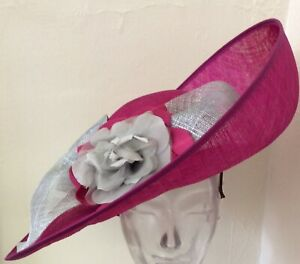 Joyce Young Mother Of The Bride Handmade Hat Fuchsia Pink RRP£450