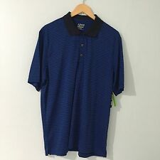 Izod Mens Polo Shirt Size XL Performx Golf Blue Stripes NWT