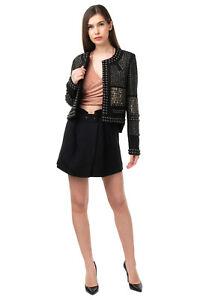 RRP €2510 ISABEL MARANT Wool Blazer Jacket Size 36 S Contrast Silk Blend Beaded