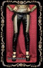 Lip Service Rare Oil Spill Goth Punk Industrial Steampunk Vinyl Pocket Pants