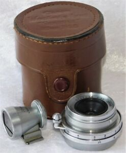 VTG Early Canon Serenar f 3.5 35mm Camera Lens w/ Finder Case Leica Style