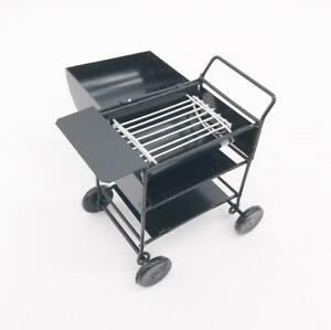 1:12 Iron BBQ Grill Miniature Garden Outdoor  Barbecue Grill Metal Oven Black