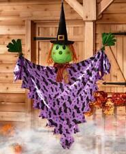 """50"""" Amigable Bruja Colgante Árbol Pasamano Hugger Halloween Decoración"""