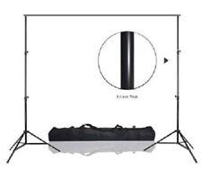 Backdrop Rod Metal Stand Pole Kit W/Carry Bag 10 FT Adjust Photo Studio Ready