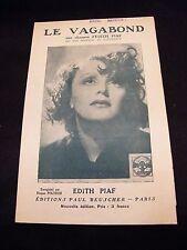 Partition Le Vagabond Edith Piaf Music Sheet