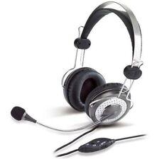 Casques avec bouton de coupure du micro avec fil-prise jack son pour ordinateur Supra-auriculaires (sur l'oreille)