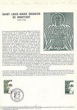 DOCUMENT PHILATÉLIQUE - YT 1784 - 1er JOUR 1974